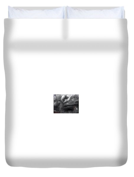 Duvet Cover featuring the photograph Charles And Conway 5 June 16 by Toni Martsoukos