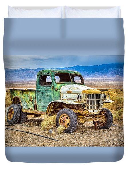 The Charles Manson Forgotten Getaway Truck Duvet Cover