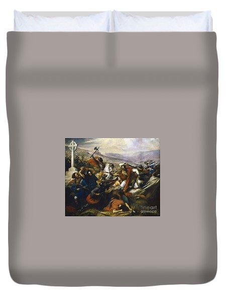 Charles Martel In The Battle Of Tours Duvet Cover
