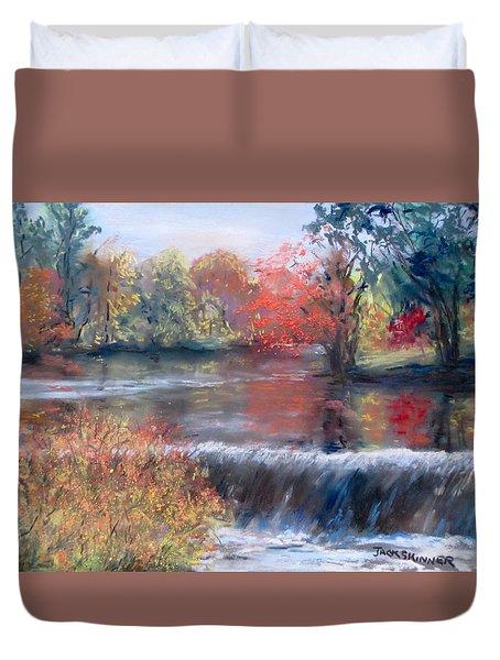 Charles River, Natick Duvet Cover by Jack Skinner
