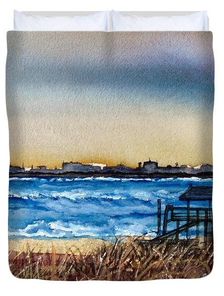 Charleston At Sunset Duvet Cover by Lil Taylor