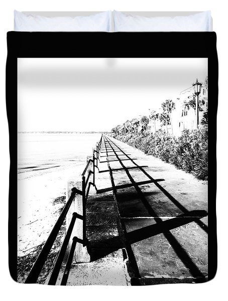 Charleston Battery Seawall Duvet Cover