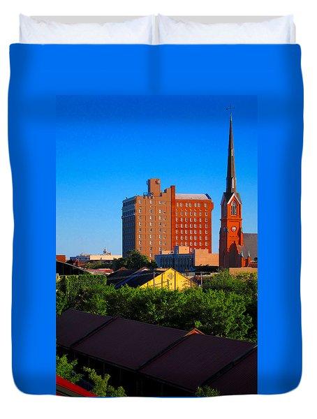Charleston Buildings Duvet Cover