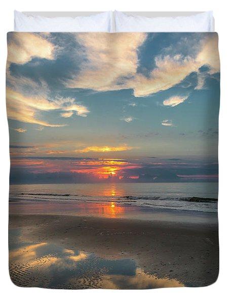 Charleston Coast Sunrise Duvet Cover