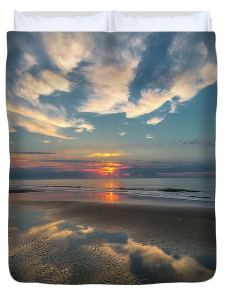 Charleston Coast Sunrise Duvet Cover