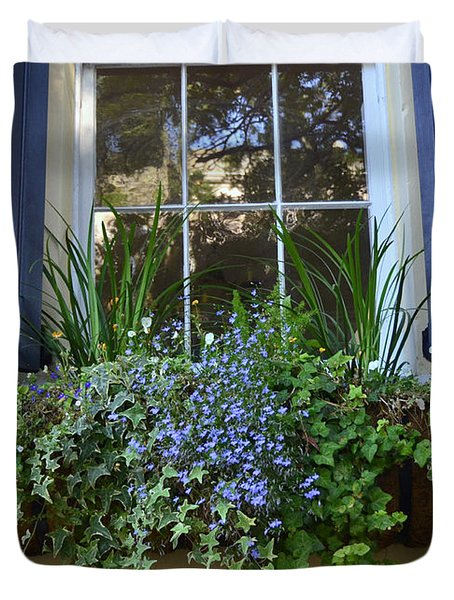 Charleston Flower Box 3 Duvet Cover