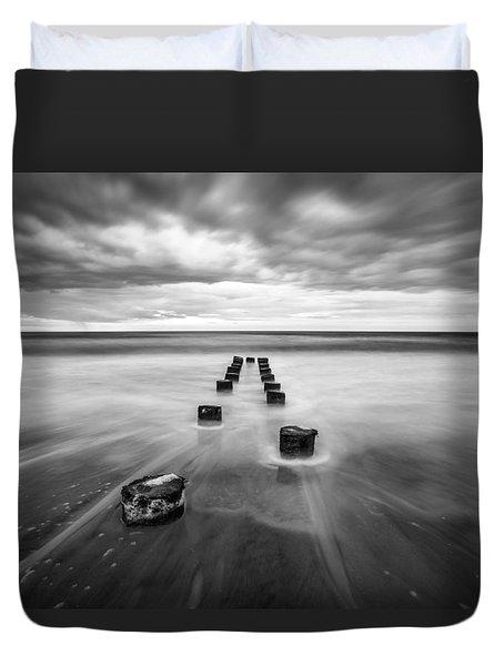 Charleston Sc Folly Beach Seascape Photography Duvet Cover