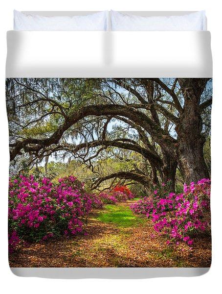 Charleston Sc Spring Flowers Scenic Landscape South Carolina  Duvet Cover