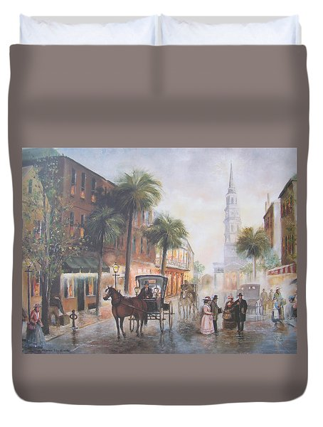 Charleston Somewhere In Time Duvet Cover by Charles Roy Smith