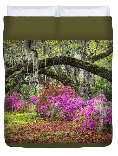 Charleston South Carolina Spring Flowers Lowcountry Landscape Photography Duvet Cover