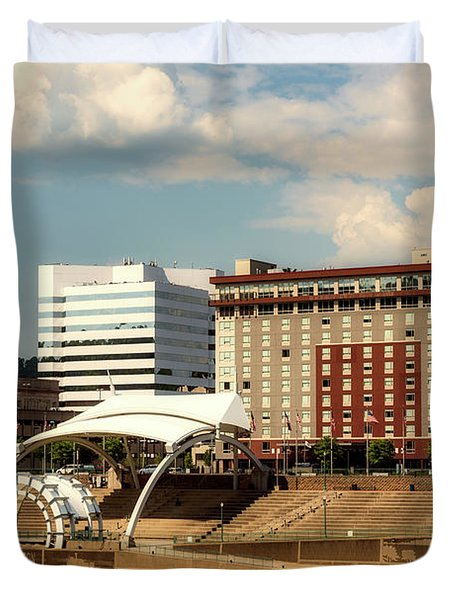 Charleston West Virginia Duvet Cover by L O C