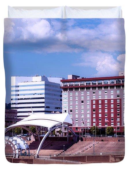 Charleston West Virginina Duvet Cover by L O C