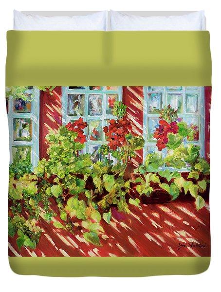 Charleston Window Boxes Duvet Cover