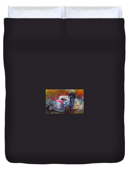 Charlie And Bella's Ride Duvet Cover