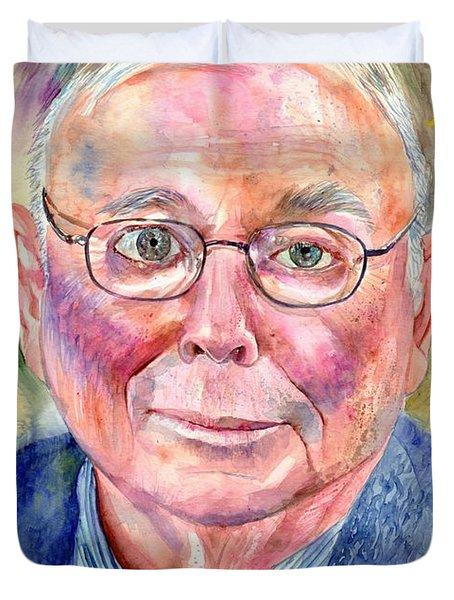 Charlie Munger Painting Duvet Cover