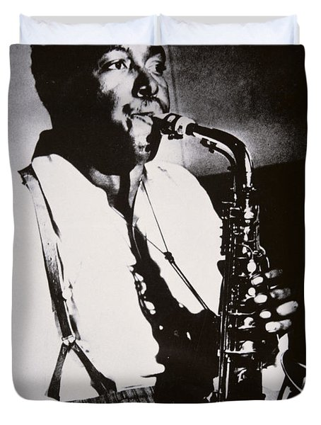 Charlie Parker Duvet Cover by American School