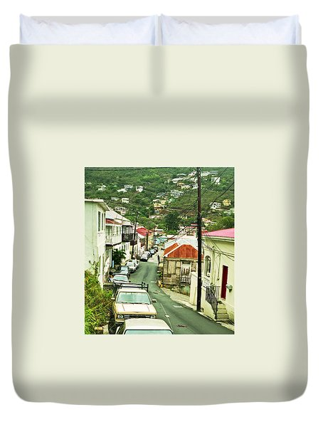 Charlotte Amalie Neighborhood Duvet Cover
