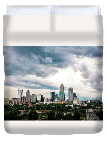 Charlotte In The Clouds Duvet Cover by Phyllis Peterson