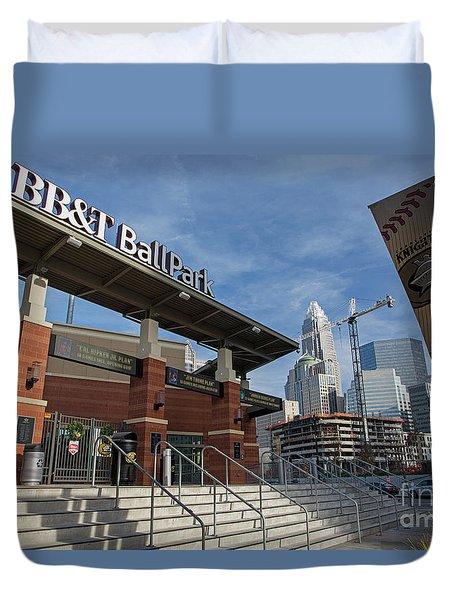 Charlotte Knights Ballpark Duvet Cover
