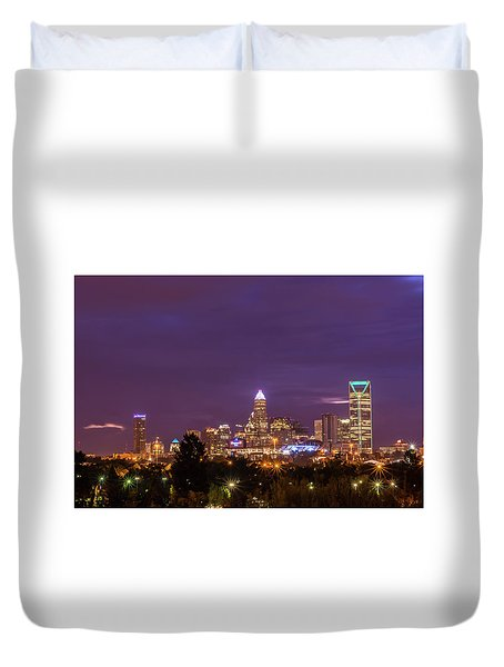 Charlotte, North Carolina Sunrise Duvet Cover by Serge Skiba