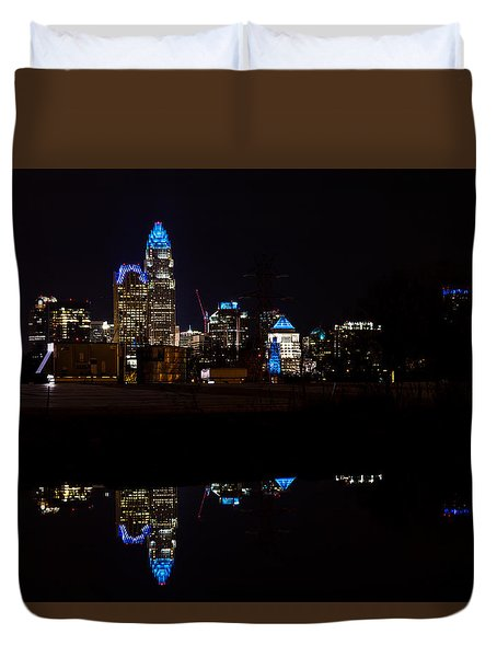 Charlotte Reflection At Night Duvet Cover