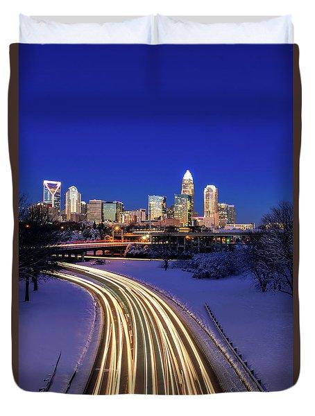 Charlotte Winter Skyline Duvet Cover
