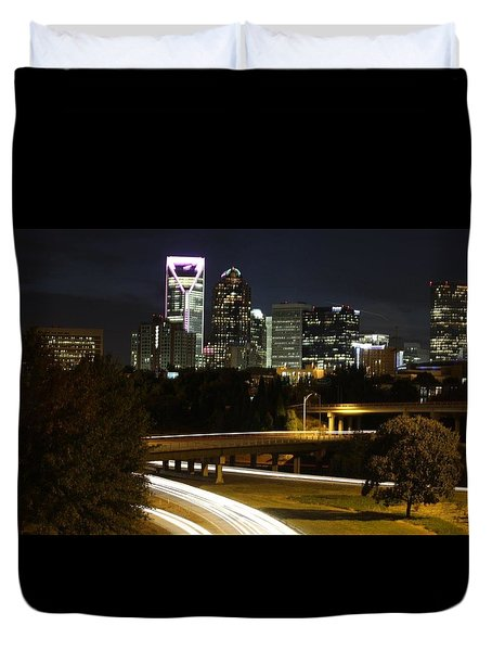 Charlotte's Skyline Duvet Cover by Demetrai Johnson
