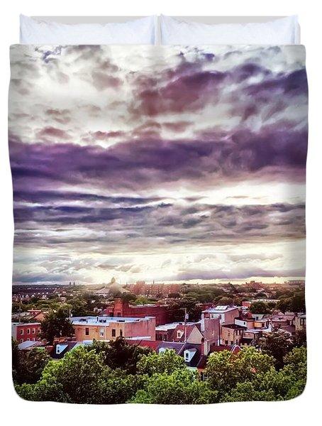 Charm City Sunset Duvet Cover