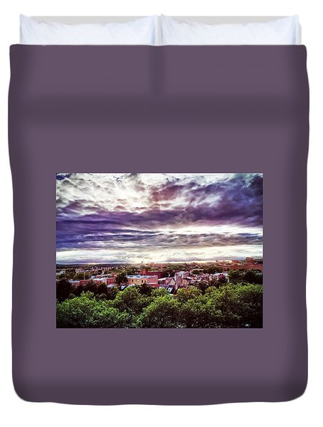 Charm City Sunset Duvet Cover
