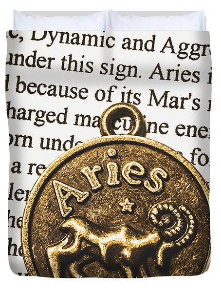 Charm Of Aries Duvet Cover