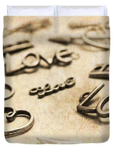 Charming Old Fashion Love Duvet Cover