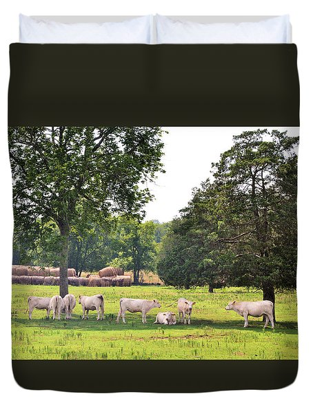 Charolais In The Shade Duvet Cover