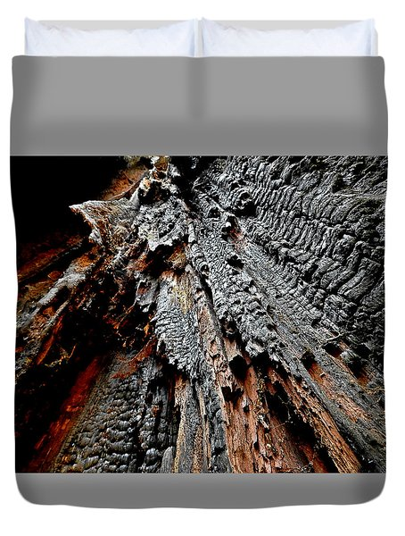 Charred Cedar Duvet Cover