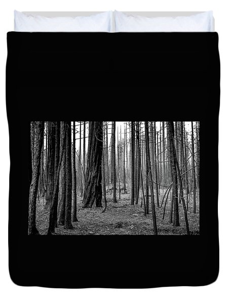 Charred Trees Duvet Cover by Ralph Vazquez