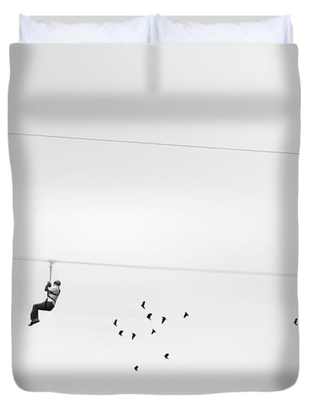Chased By The Birds Duvet Cover