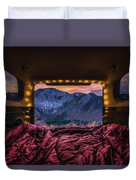 Chasing Sunset Duvet Cover by Alpha Wanderlust