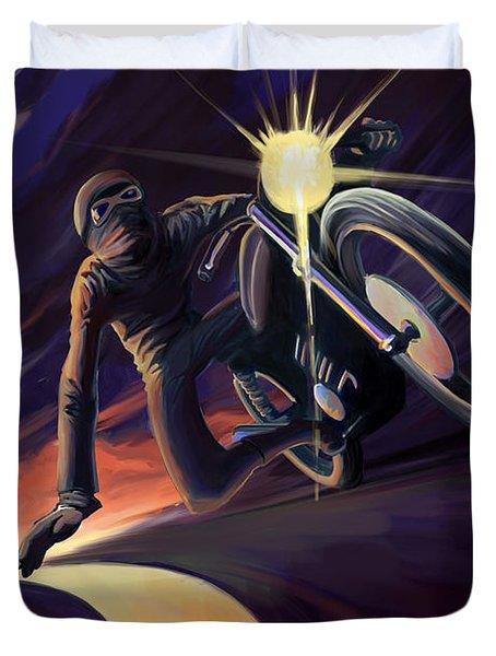 Chasing The Line Speed Racer Duvet Cover
