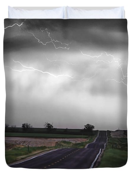 Chasing The Storm - Bw And Color Duvet Cover by James BO  Insogna