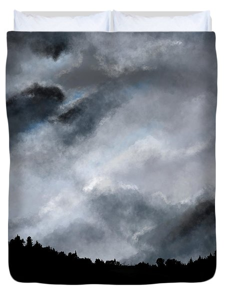 Chasing The Storm Duvet Cover