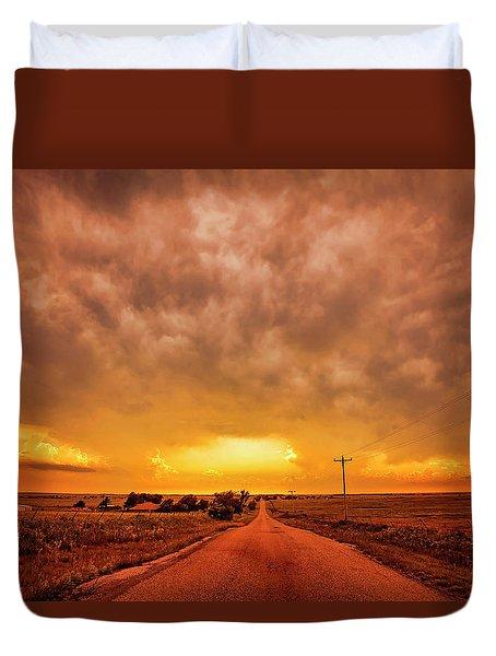 Chasing The Sunset Duvet Cover