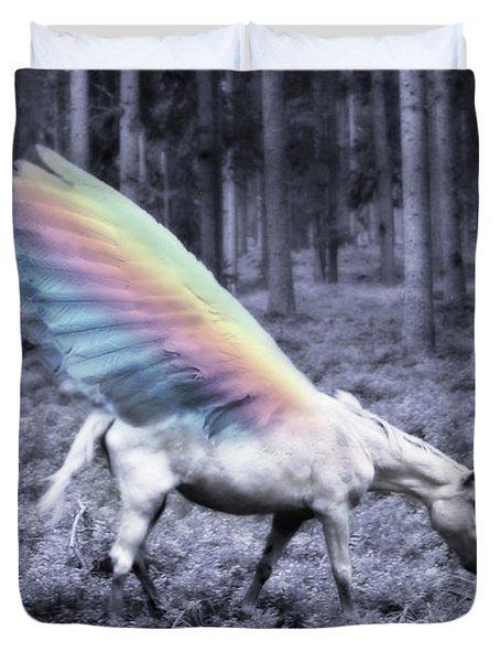 Chasing The Unicorn Duvet Cover