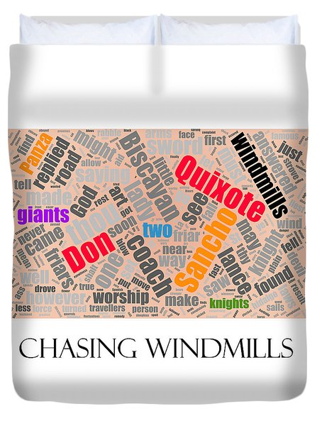 Chasing Windmills Duvet Cover by Richard Reeve