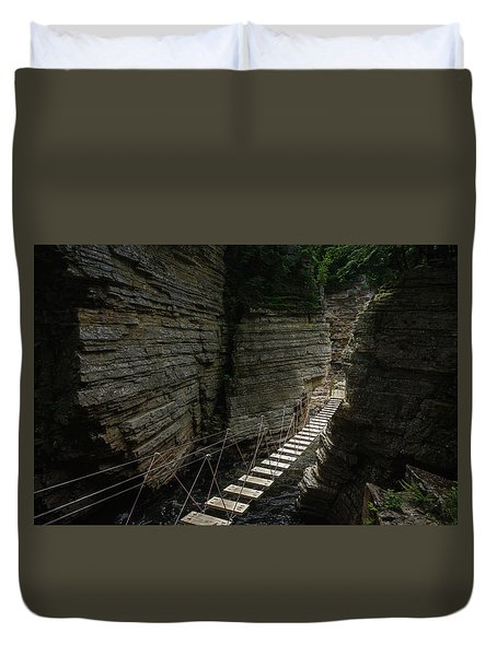 Chasm Bridge Duvet Cover
