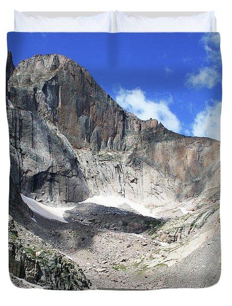 Chasm Lake, Longs Peak, Colorado Duvet Cover