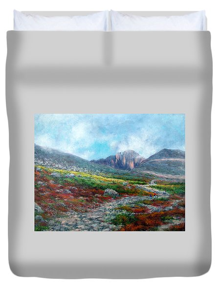 Chasm Lake Trail Duvet Cover by Jill Musser