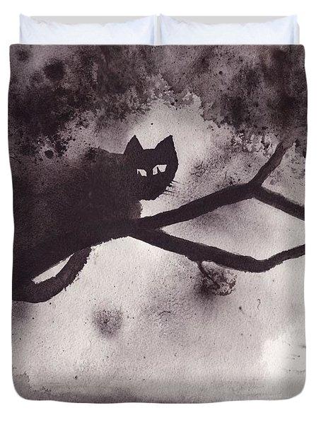 Chat Dans L'arbre Duvet Cover