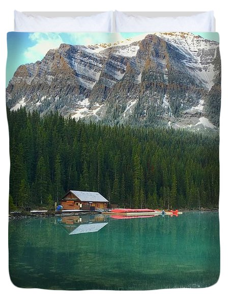 Chateau Boat House Duvet Cover