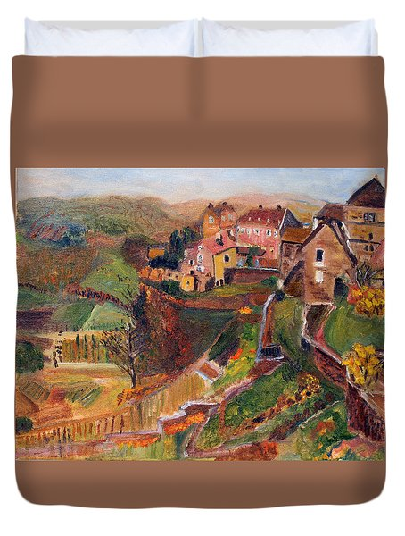 Chateau Chalon Duvet Cover