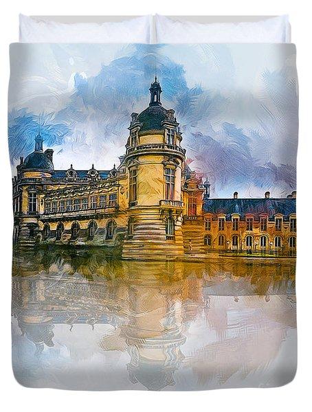 Chateau De Chantilly Duvet Cover