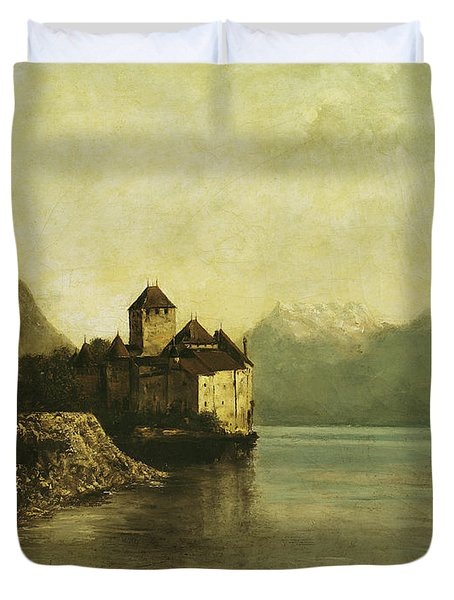 Chateau De Chillon Duvet Cover